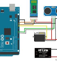 arduino radar system using processing android app circuit  [ 1000 x 874 Pixel ]