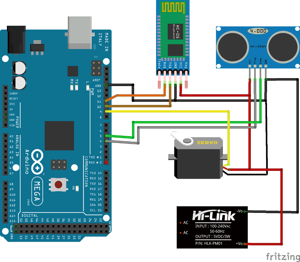 hight resolution of arduino radar system using processing android app circuit