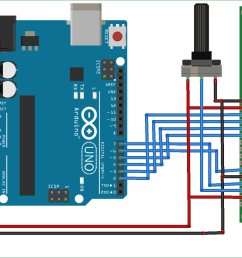 arduino based digital thermometer circuit diagram [ 1400 x 817 Pixel ]