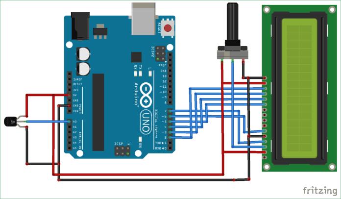 Mạch đo nhiệt độ dùng cảm biến LM35 và Arduino