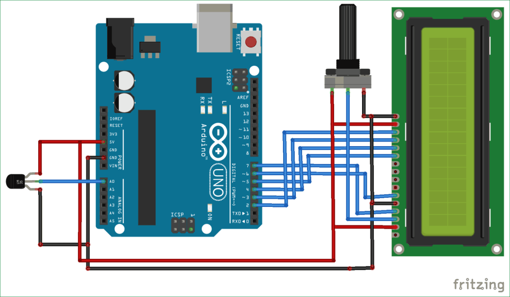 medium resolution of arduino based digital thermometer circuit diagram