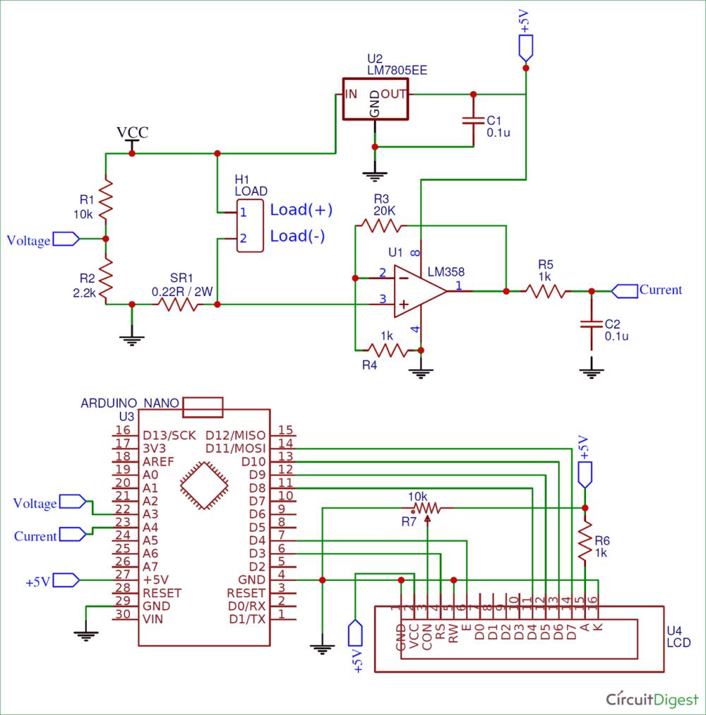 medium resolution of arduino wattmeter circuit diagram