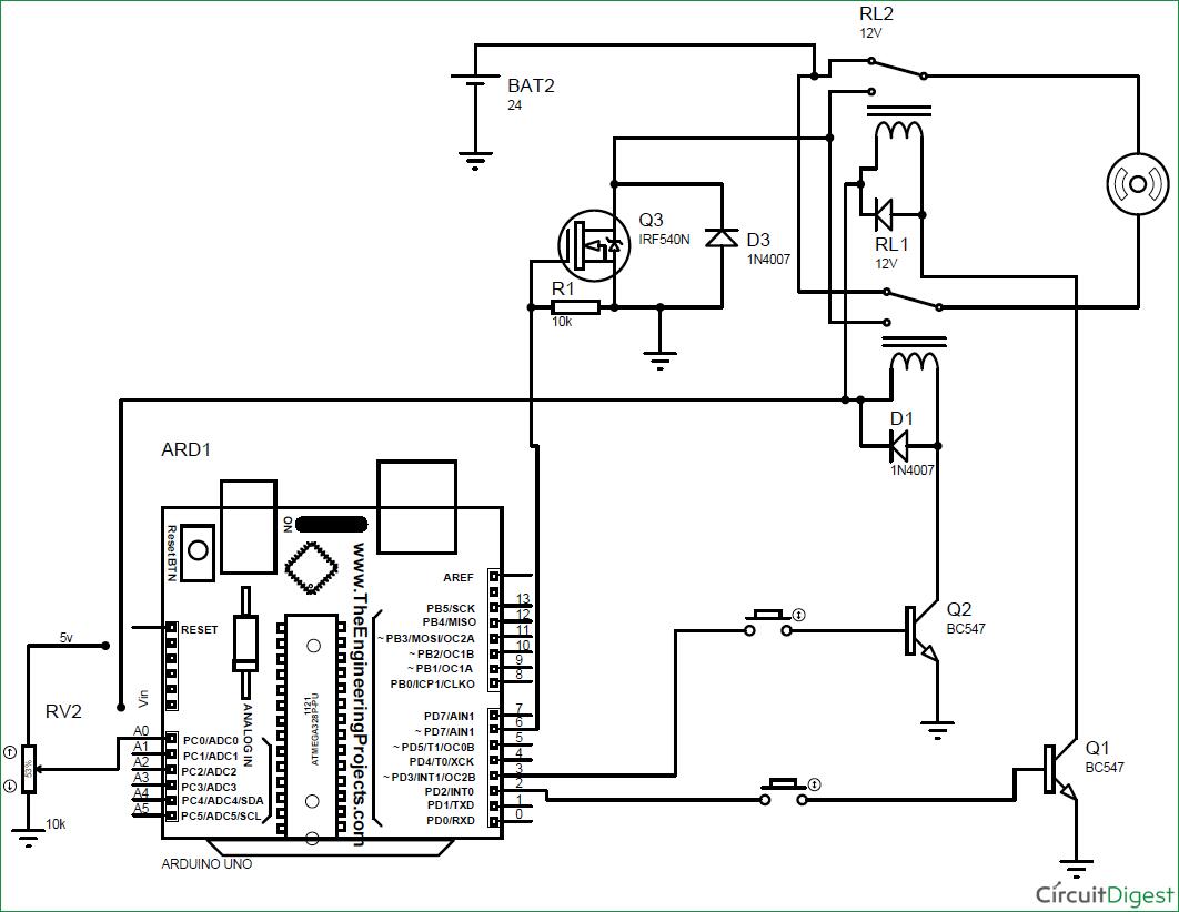 dc motor reversing diagram