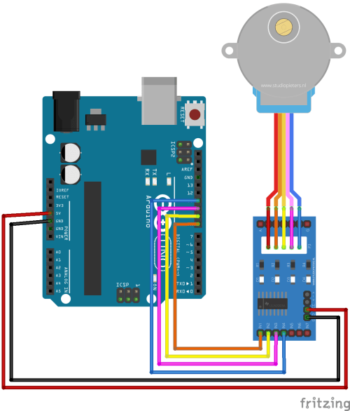 small resolution of arduino stepper motor control tutorial with code and circuit diagram stepper motor wiring arduino arduino stepper