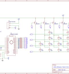 led binary clock circuit using arduino clock gear schematic binary clock circuit diagram [ 1328 x 786 Pixel ]