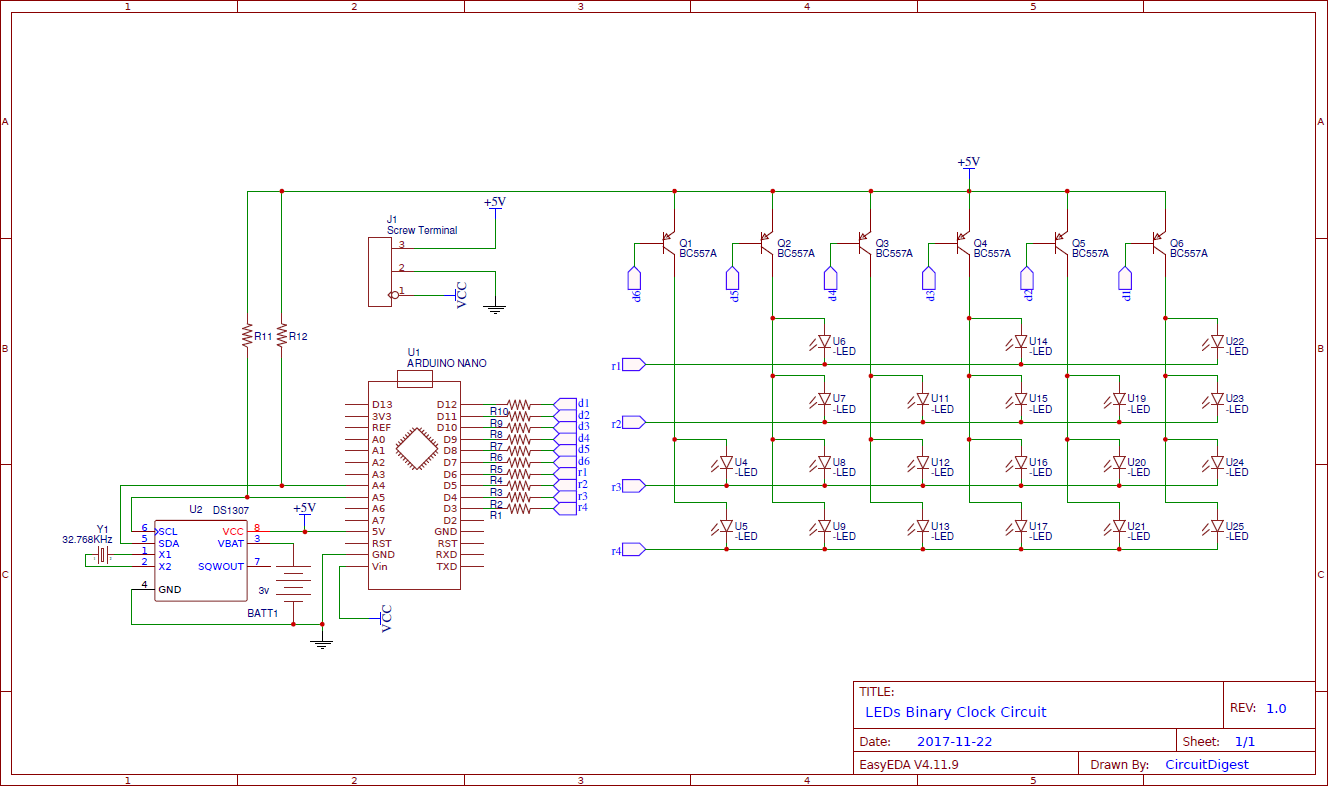 hight resolution of binary clock circuit diagram