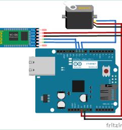 bluetooth controlled servo motor circuit diagram using arduino [ 1182 x 1138 Pixel ]