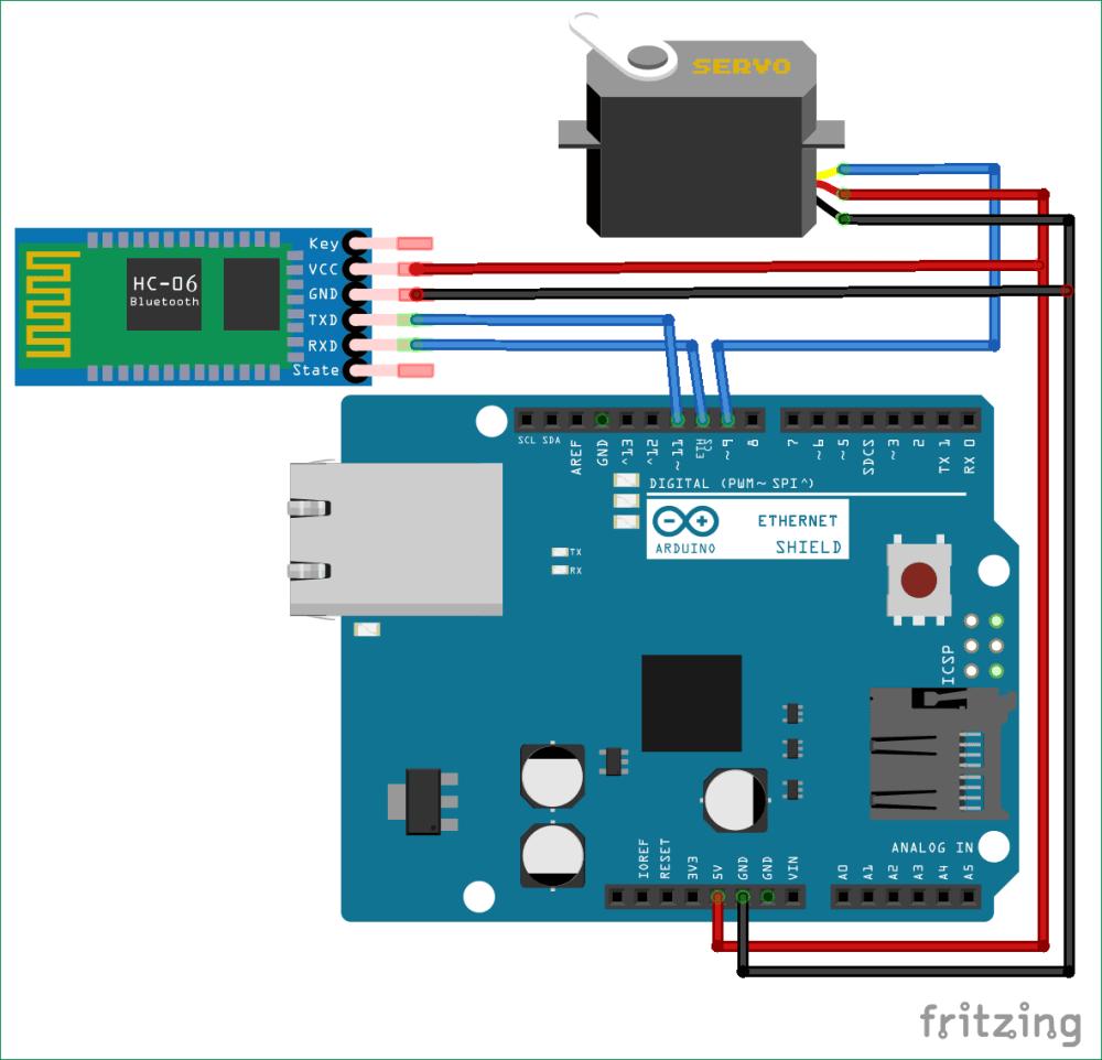 medium resolution of bluetooth controlled servo motor circuit diagram using arduino