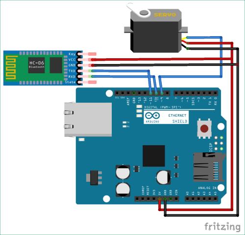 small resolution of bluetooth controlled servo motor circuit diagram using arduino