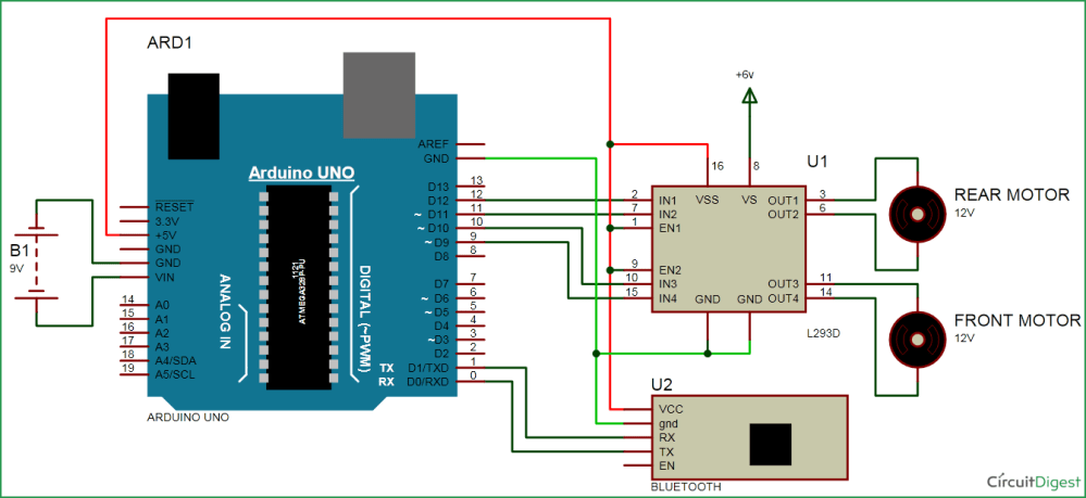 medium resolution of bluetooth controlled car circuit diagram