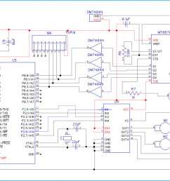 cell phone controlled robot circuit diagram [ 1350 x 700 Pixel ]