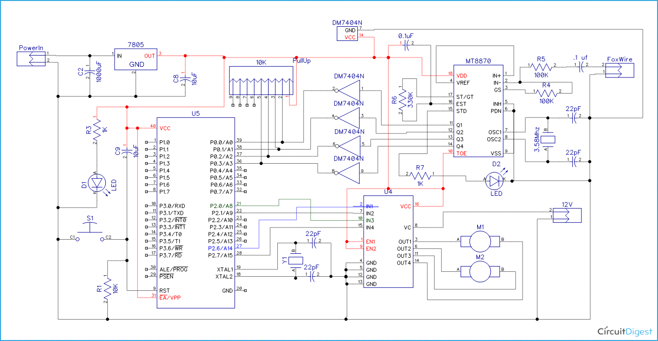 hight resolution of cell phone controlled robot circuit diagram