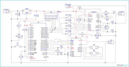 small resolution of cell phone controlled robot circuit diagram