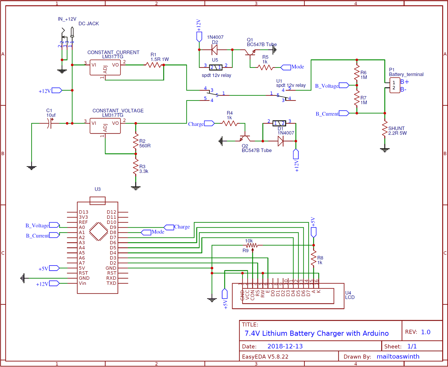 hight resolution of circuit diagram for 7 4v two step lithium battery charger circuit