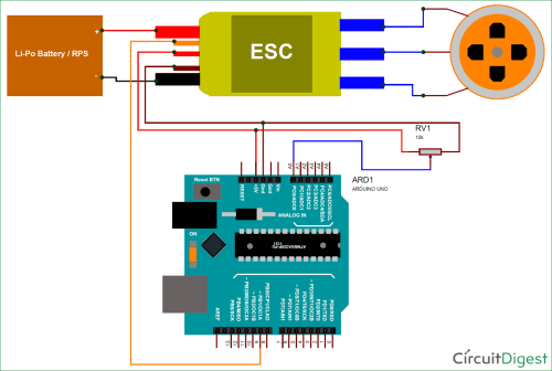small resolution of what is brushless dc motor bldc and how to control bldc motor with typical connection diagram of battery with esc and brushless motor