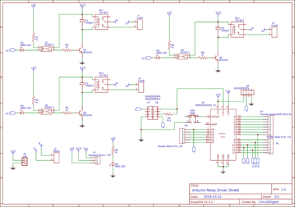 medium resolution of circuit diagram for diy arduino relay driver shield pcb