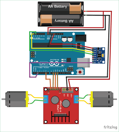 small resolution of circuit diagram for diy self balancing robot using arduino