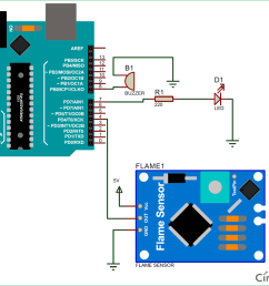 arduino flame sensor interfacing to build a fire alarm system flame sensor wiring diagram [ 1200 x 904 Pixel ]