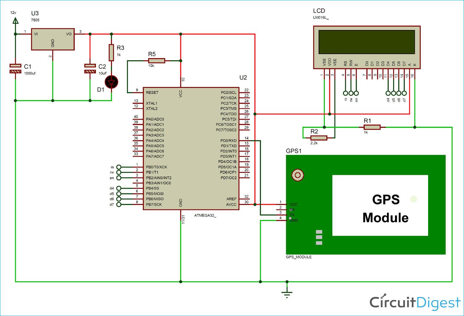 The Circuit Of The Gps Clock Is Shown Here This Is Constructed By