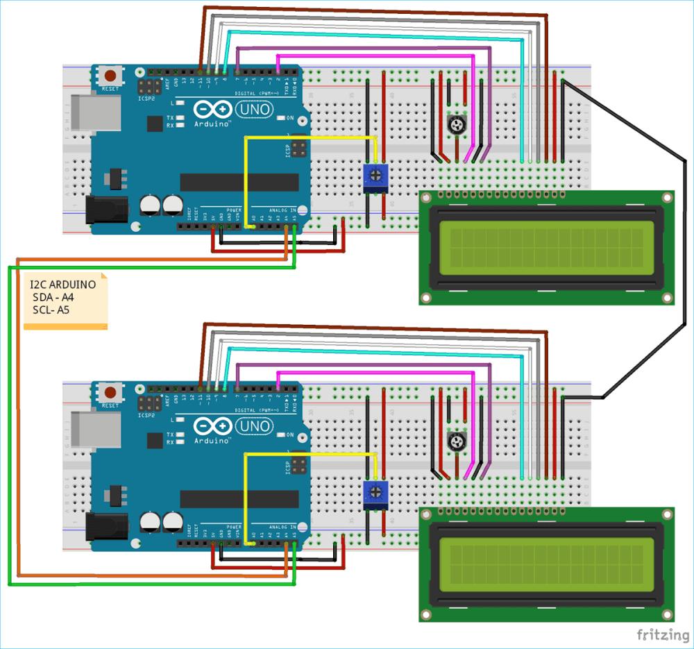 medium resolution of circuit diagram for i2c communication in arduino
