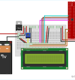 circuit diagram for interfacing 16x2 lcd with arm7 lpc2148 in 4 bit mode [ 1200 x 1069 Pixel ]