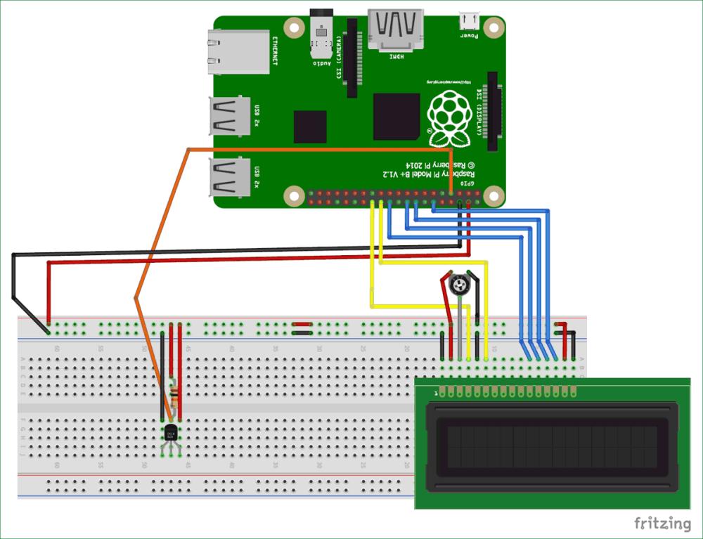 medium resolution of circuit diagram for interfacing ds18b20 temperature sensor with raspberry pi