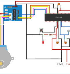 circuit diagram for interfacing stepper motor with avr microcontroller atmega16 using uln2003 [ 1500 x 1127 Pixel ]