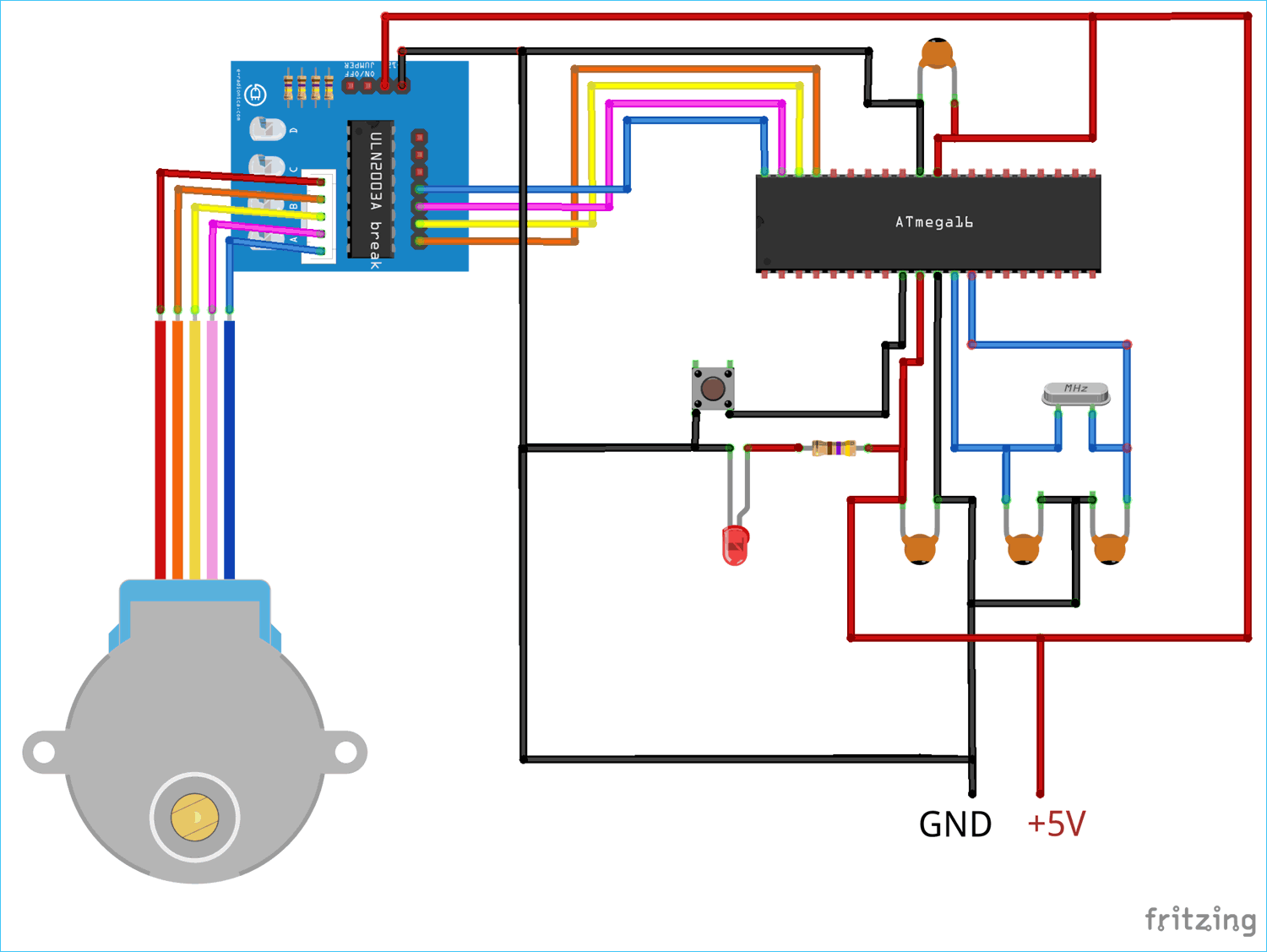 hight resolution of circuit diagram for interfacing stepper motor with avr microcontroller atmega16 using uln2003