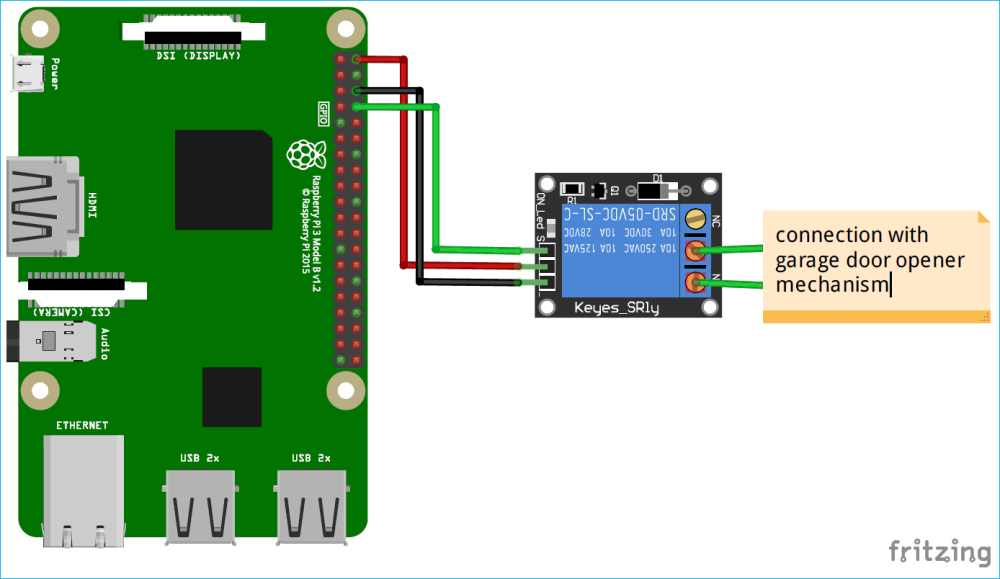 medium resolution of iot smart garage door opener circuit diagram using raspberry pi