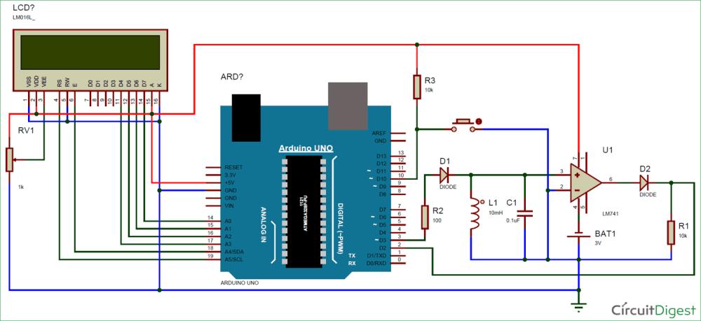 medium resolution of circuit diagram for lc meter using arduino