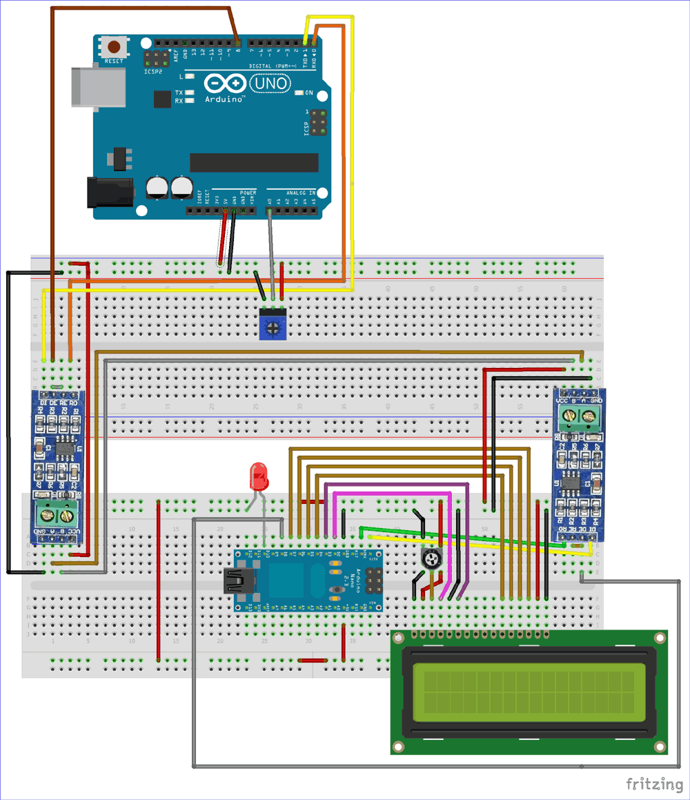 medium resolution of circuit diagram for rs485 serial communication between arduino uno and arduino nano