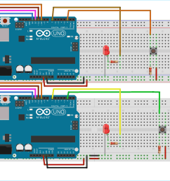 circuit diagram for spi communication between two arduinos [ 1300 x 1040 Pixel ]