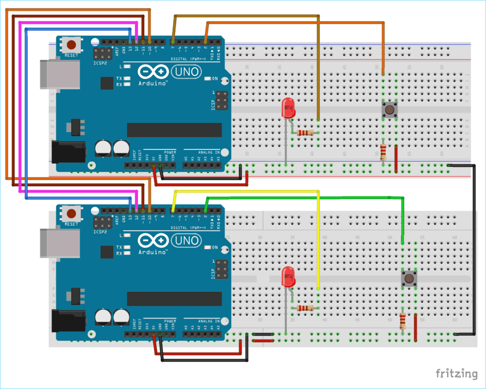 medium resolution of circuit diagram for spi communication between two arduinos
