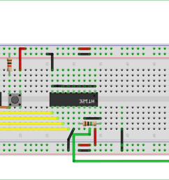 circuit diagram of transmitter part for interfacing rf module with atmega8 [ 1400 x 713 Pixel ]