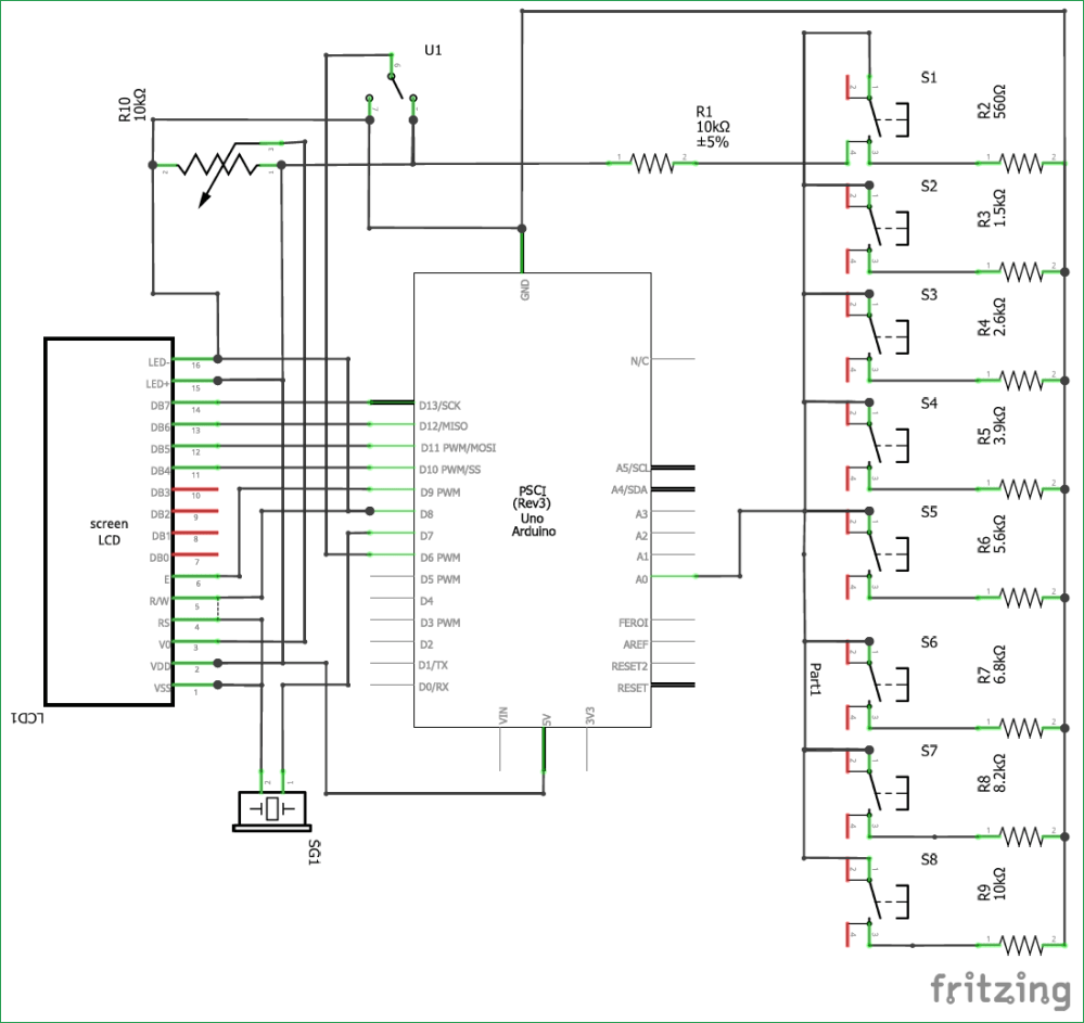 medium resolution of circuit diagram for arduino based piano with recording and replay