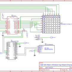 Bluetooth Application Stack Diagram Travel Trailer Light Wiring Controlled 8x8 Led Matrix Sign Board Display