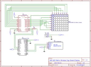 Bluetooth Controlled 8x8 LED Matrix Sign Board Display