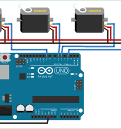 circuit diagram for controlling multiple servo motors with arduino [ 1500 x 892 Pixel ]