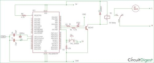 small resolution of circuit diagram for interfacing relay with pic micro controller