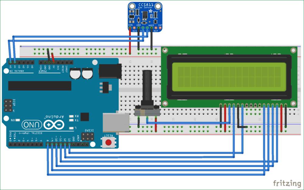 medium resolution of circuit diagram for tvoc and co2 measurement using arduino and ccs811 air quality sensor