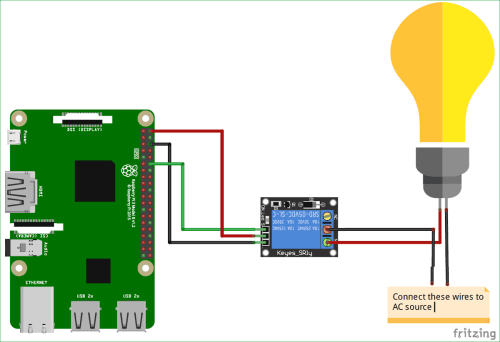 small resolution of circuit diagram for voice controlled home automation using amazon alexa on raspberry pi