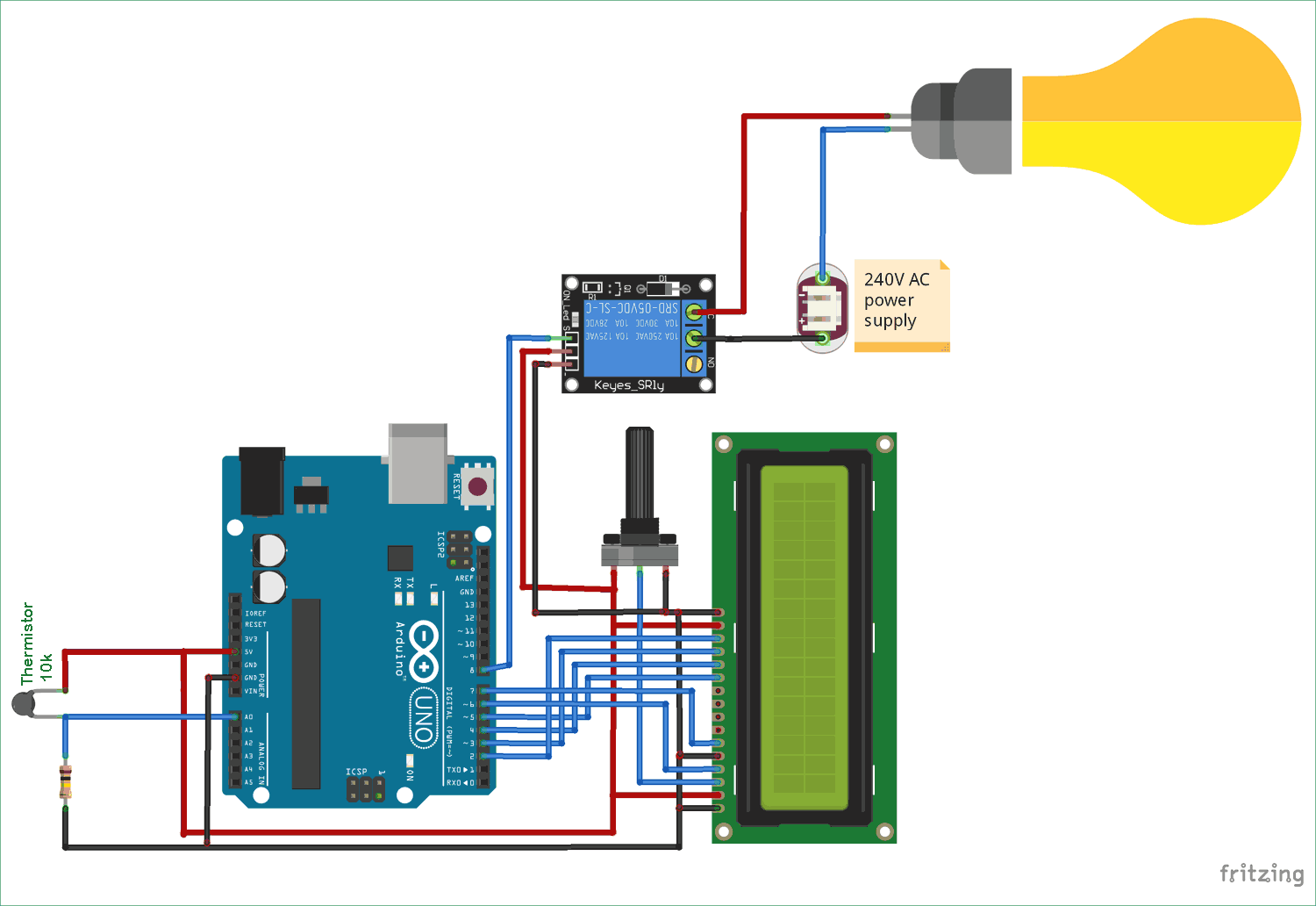 hight resolution of control relay using arduino based on temperature circuit