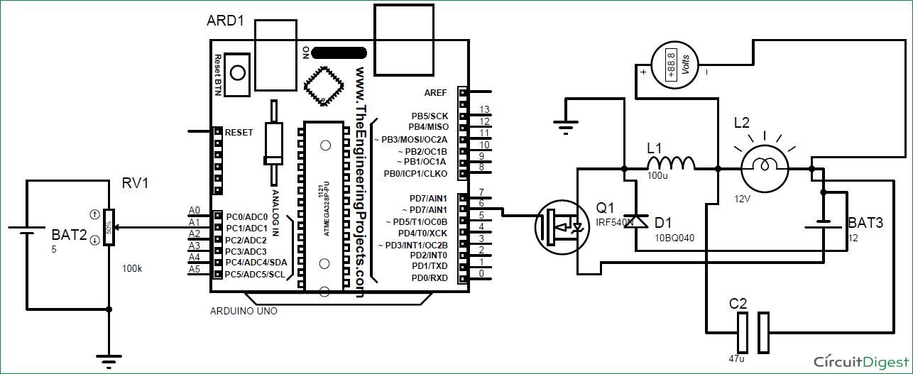 12v dc ac converter circuit diagram on 12v dc converter schematic