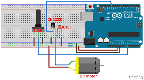 small resolution of dc motor speed control circuit diagram using arduino and potentiometer