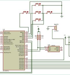 digital alarm clock circuit diagram using pic microcontroller [ 1500 x 849 Pixel ]