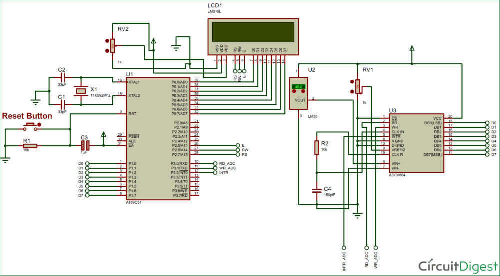 medium resolution of digital thermometer circuit diagram using lm35 and 8051