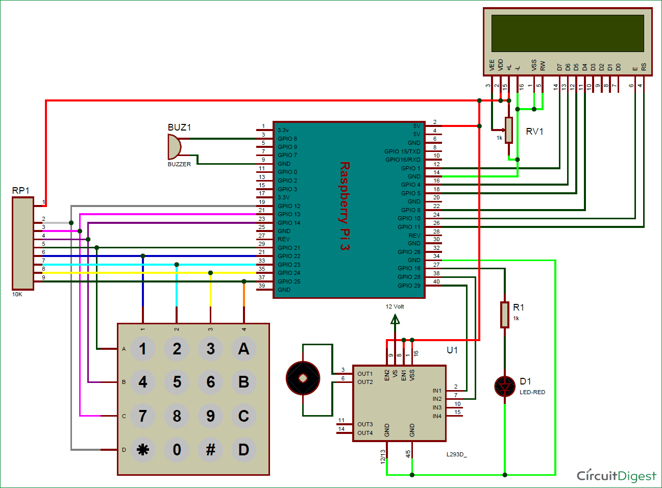 electronic number lock circuit diagram mercedes w124 abs wiring raspberry pi digital with user defined password