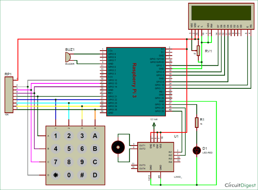 medium resolution of raspberry pi digital code lock circuit diagram