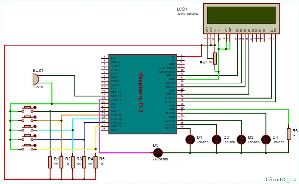 medium resolution of electronic voting machine using raspberry pi circuit diagram