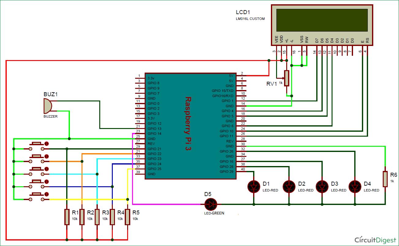 hight resolution of electronic voting machine using raspberry pi circuit diagram